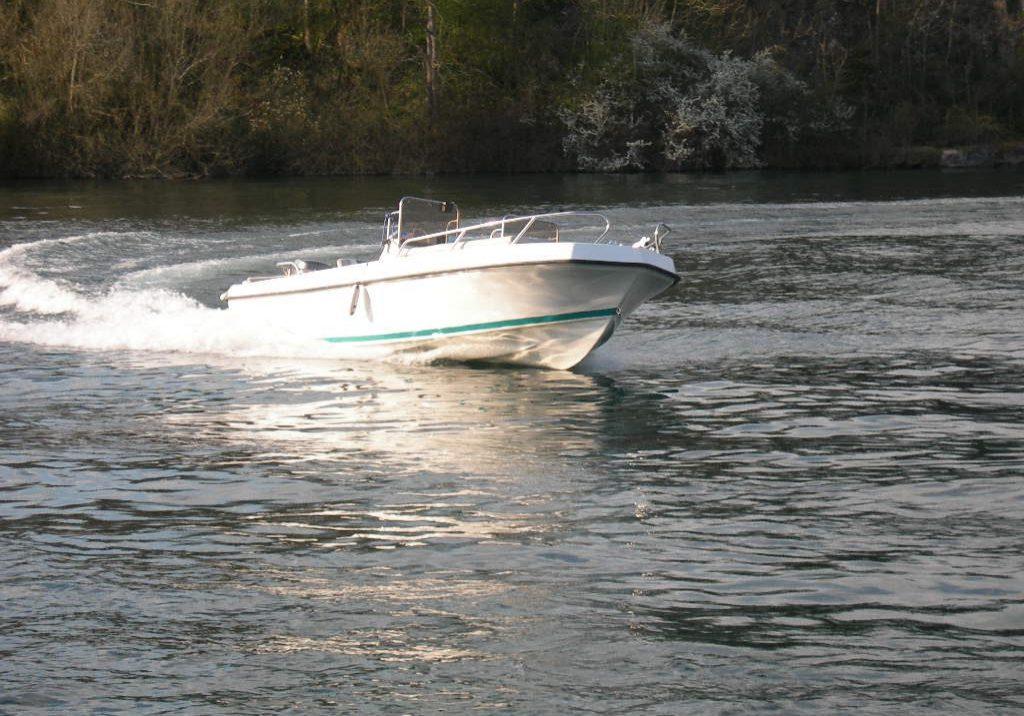 Runaway motorboat