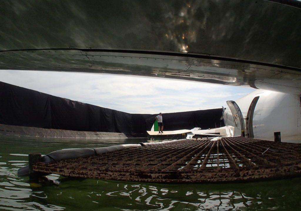 Airbus under wing